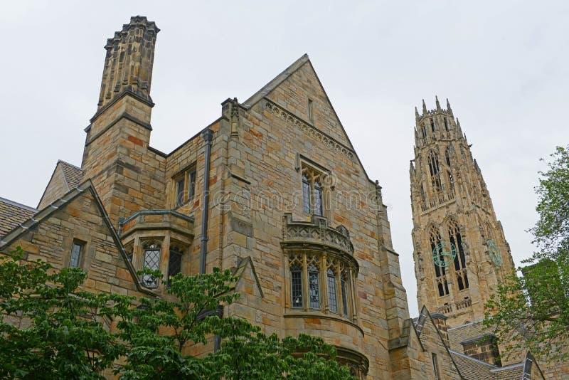 Harkness-Turm, Yale University, Connecticut, USA stockbilder
