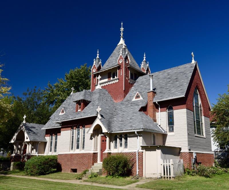 Harlan, Iowa Church stock photo