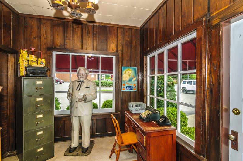 Harland Sanders Café y museo fotos de archivo libres de regalías