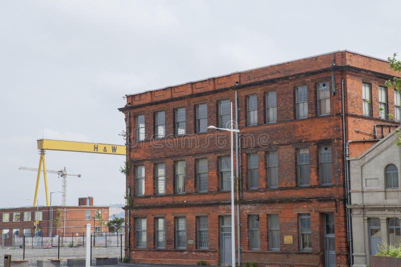 Harland y astillero de Wolff, Belfast foto de archivo libre de regalías