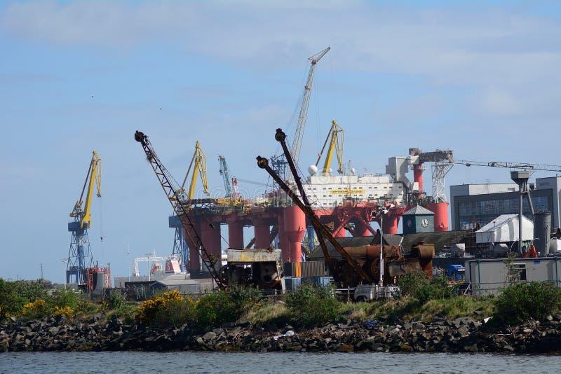 Harland y Wolff Heavy Industries, Belfast, Irlanda del Norte foto de archivo libre de regalías