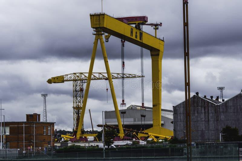 Harland y Wolff, museo titánico Belfast en Irlanda imagenes de archivo