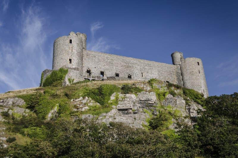 Harlech-Schloss lizenzfreie stockbilder
