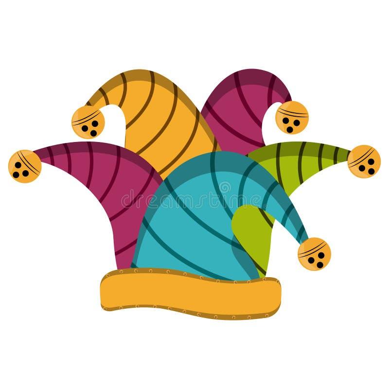 Harlekinhatt, dag för April dumbom vektor illustrationer