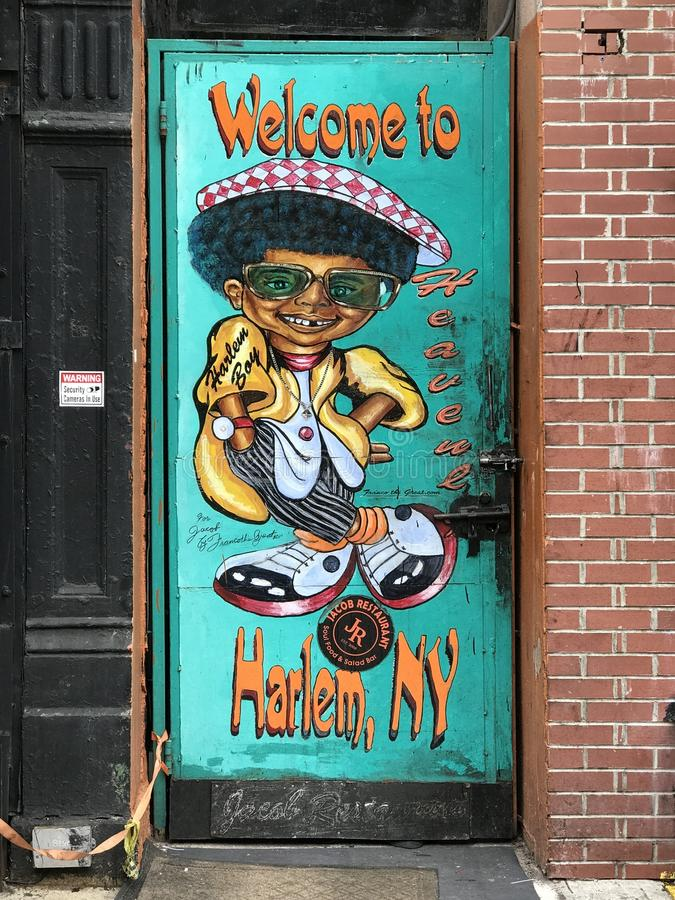 Harlem ad ovest, New York fotografia stock libera da diritti