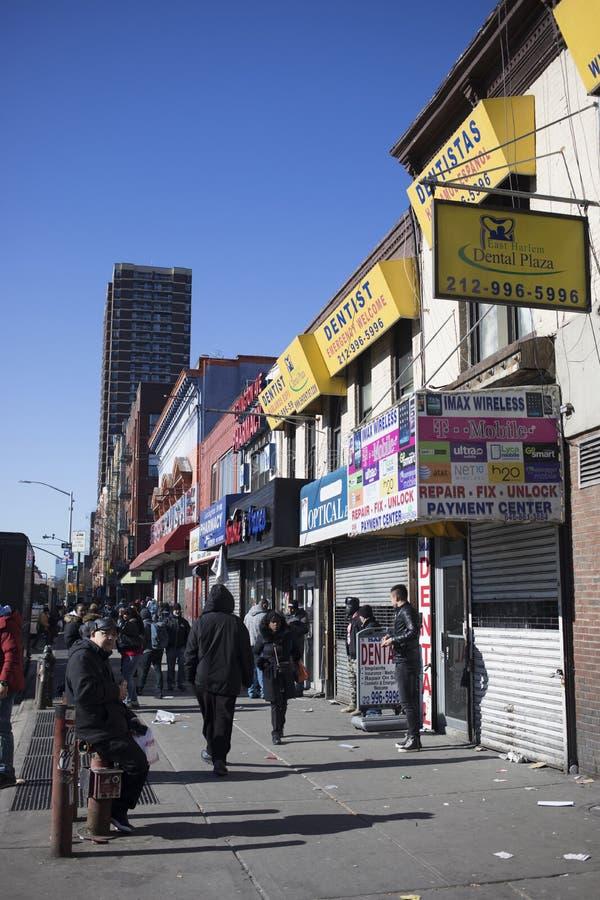 Harlem gator i New York City arkivfoto