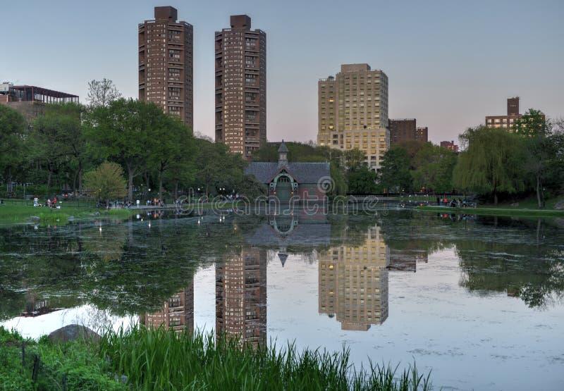 Harlem Meer, Central Park, New York fotografia stock libera da diritti