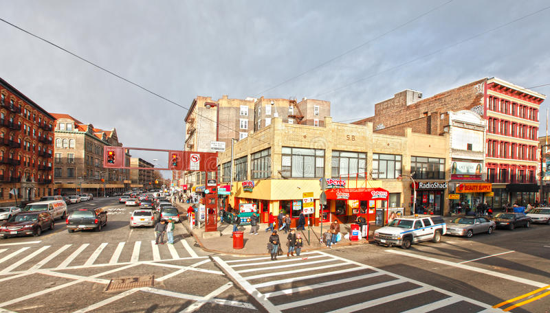 Download Harlem street scene editorial photography. Image of streets - 24639712