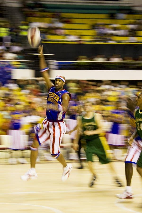 Harlemglobetrotters-Basketball-Tätigkeit (verwischt) Redaktionelles Stockbild