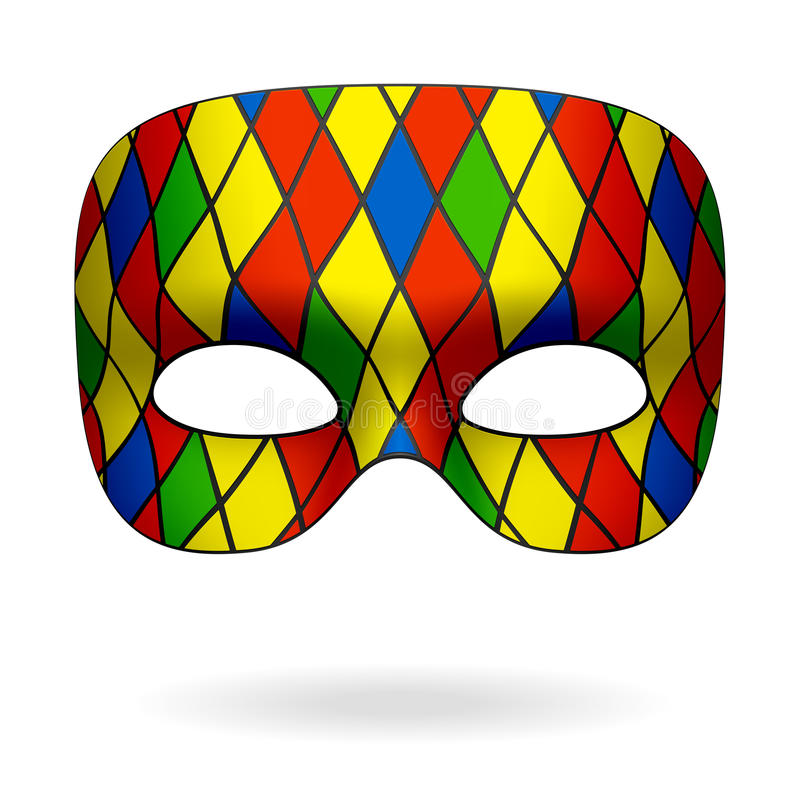 harlequin μάσκα διανυσματική απεικόνιση