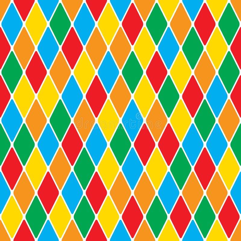 Harlequin' modell för polychromatic mosaik för s ljus gladlynt sömlös vektor illustrationer