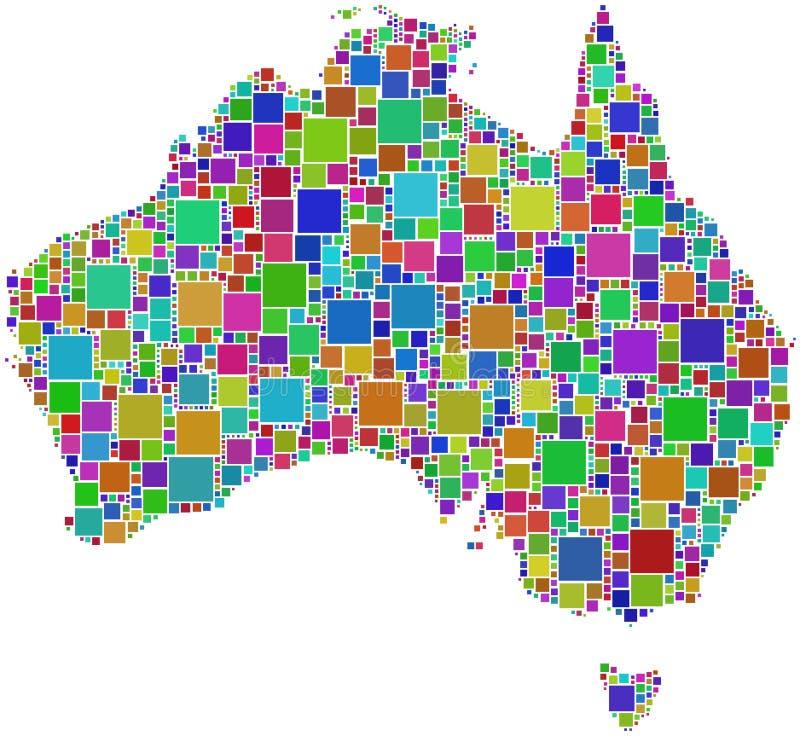Download Harlequin Mosaic Of Australia Map Stock Vector - Image: 8641331