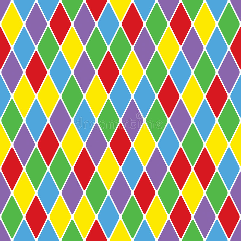 Free Harlequin Particoloured Seamless Pattern VI Royalty Free Stock Photos - 8218158