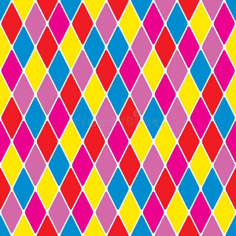 Free Harlequin Particoloured Seamless Pattern VII Royalty Free Stock Photos - 8218368