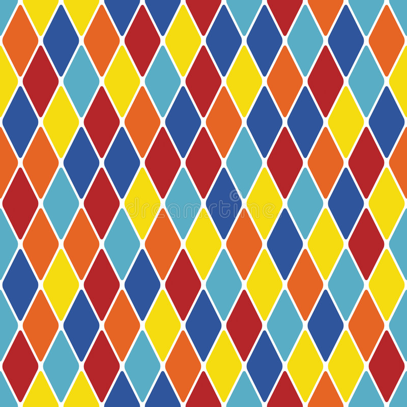 Free Harlequin Particoloured Seamless Pattern X Stock Image - 8201521