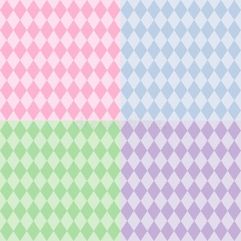 Download Harlequin Seamless Patterns, Pastels Stock Vector - Image: 8432939