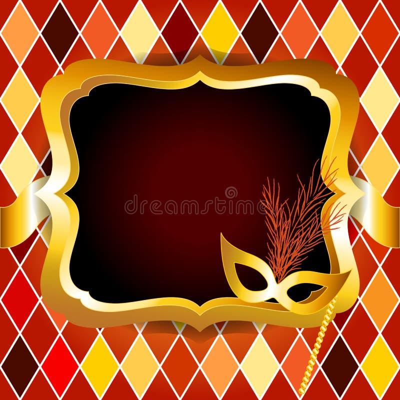 Download Harlequin Or Venitian Carnival Ball Invitation Stock Illustration - Illustration: 25410040