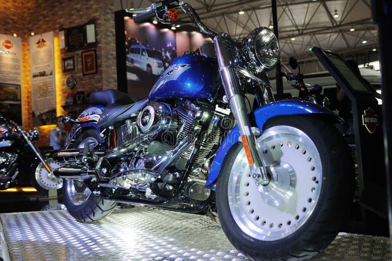 Harley Bewegungsfahrrad lizenzfreie stockfotos