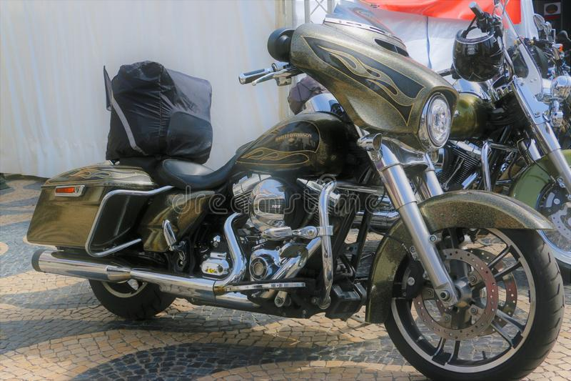 Harley Davidson - 28η ετήσια ευρωπαϊκή συγκέντρωση στο Κασκάις, Πορτογαλία στοκ φωτογραφίες