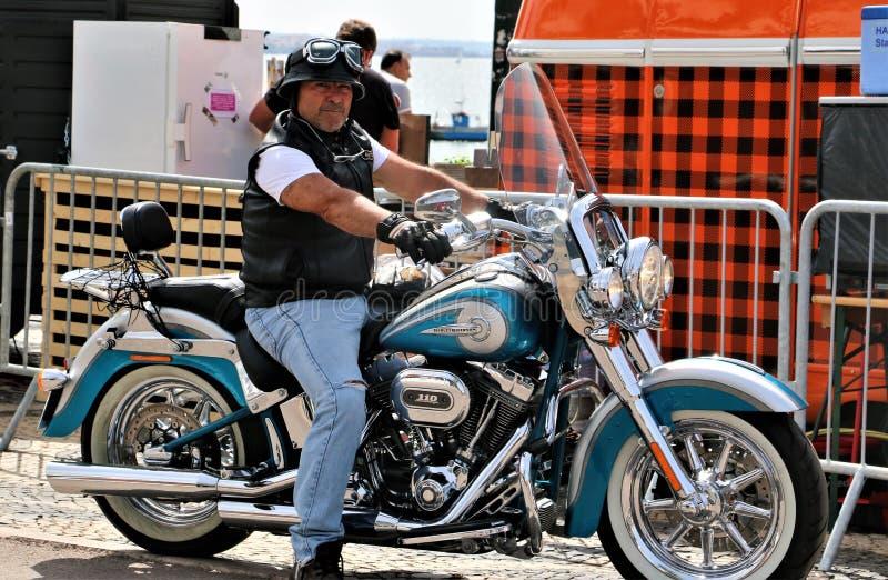 Harley Davidson - 28η ετήσια ευρωπαϊκή συγκέντρωση στο Κασκάις, Πορτογαλία στοκ φωτογραφία με δικαίωμα ελεύθερης χρήσης