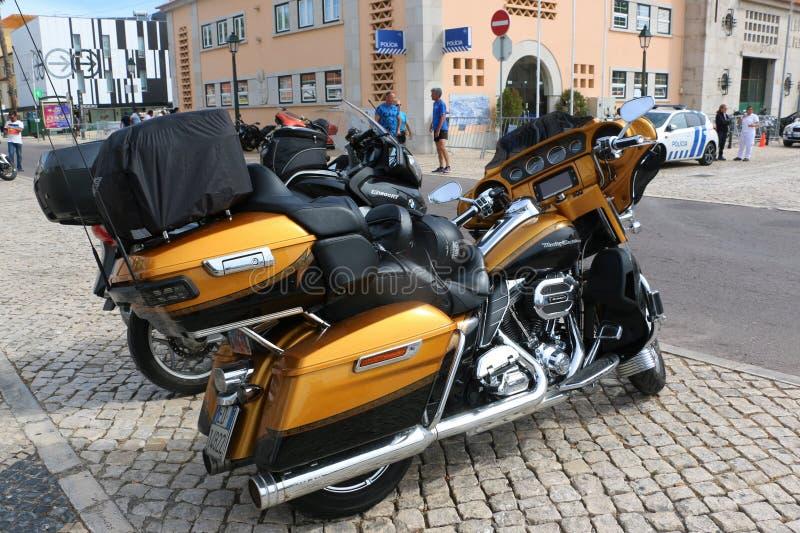 Harley Davidson - 28η ετήσια ευρωπαϊκή συγκέντρωση στο Κασκάις, Πορτογαλία στοκ εικόνες με δικαίωμα ελεύθερης χρήσης