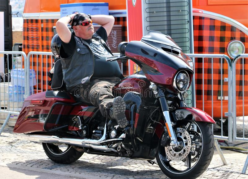 Harley Davidson - 28η ετήσια ευρωπαϊκή συγκέντρωση στο Κασκάις, Πορτογαλία στοκ εικόνα με δικαίωμα ελεύθερης χρήσης