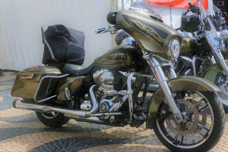 Harley Davidson - 28η ετήσια ευρωπαϊκή συγκέντρωση στο Κασκάις, Πορτογαλία στοκ εικόνα