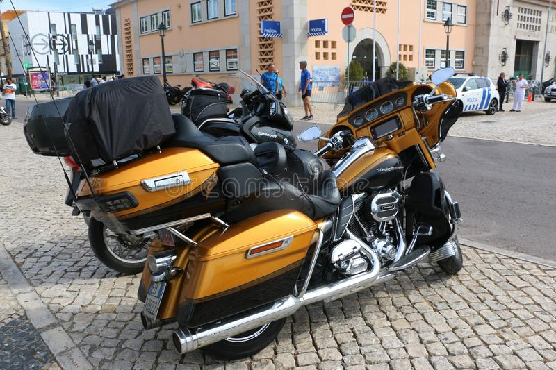 Harley Davidson - 28η ετήσια ευρωπαϊκή συγκέντρωση στο Κασκάις, Πορτογαλία στοκ εικόνες