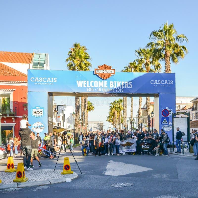 Harley-Davidson Χ ? ? Συνάθροιση στο Κασκάις, Πορτογαλία μεταξύ των 13-16 Ιουνίου 2019 στοκ εικόνα με δικαίωμα ελεύθερης χρήσης