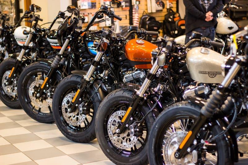 """Harley Davidson """"evento della casa aperta """"in Italia: Modello di Sportster immagini stock libere da diritti"""