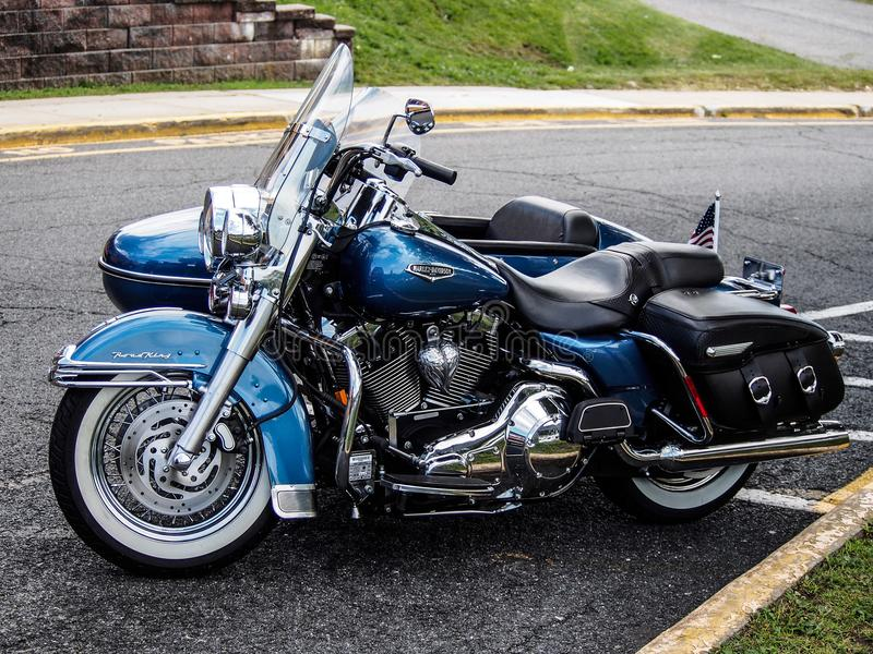 Harley Davidson avec la voiture latérale photos libres de droits