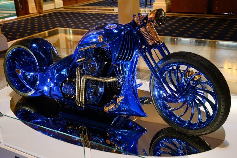 Harley-Davidson Blue Edition, la moto más costosa del mundo fotografía de archivo libre de regalías