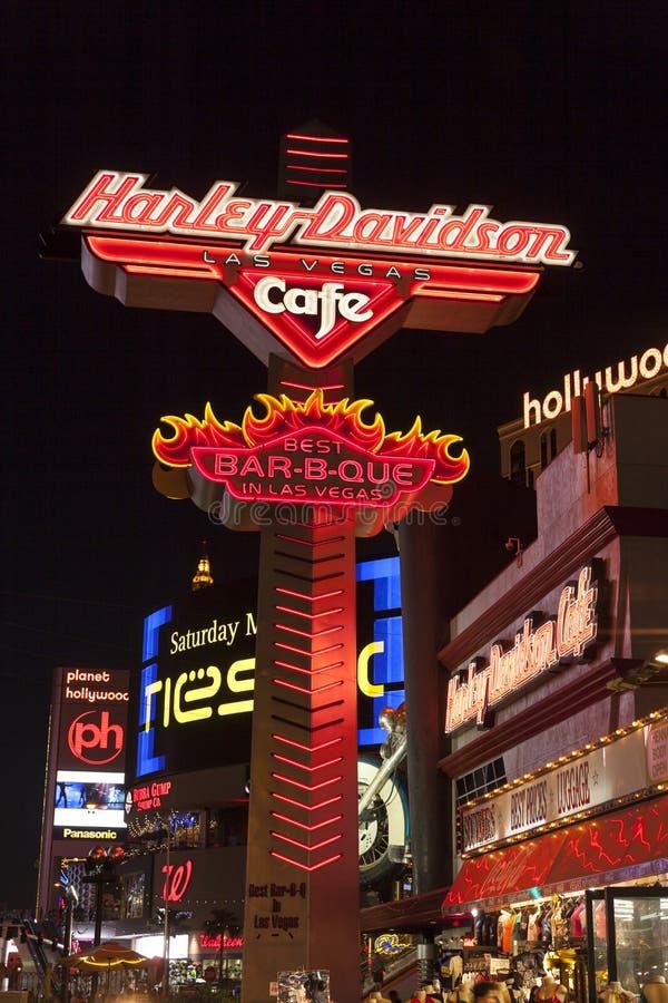 Harley Davidson Cafe à Las Vegas, nanovolt le 18 mai 2013 photographie stock