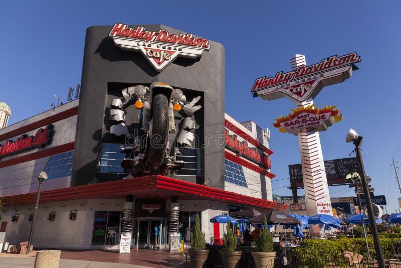 Harley Davidson Cafe i Las Vegas, NV på Maj 20, 2013 royaltyfri foto