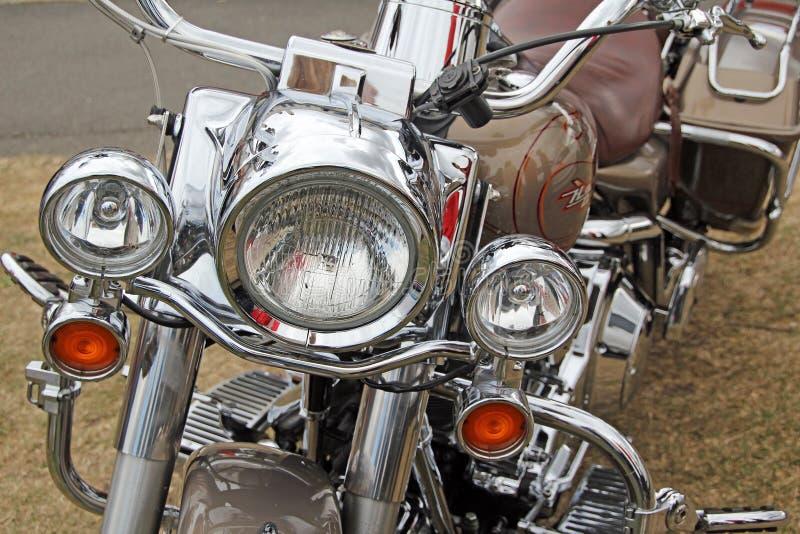 Harley davidson chrome parts stock images