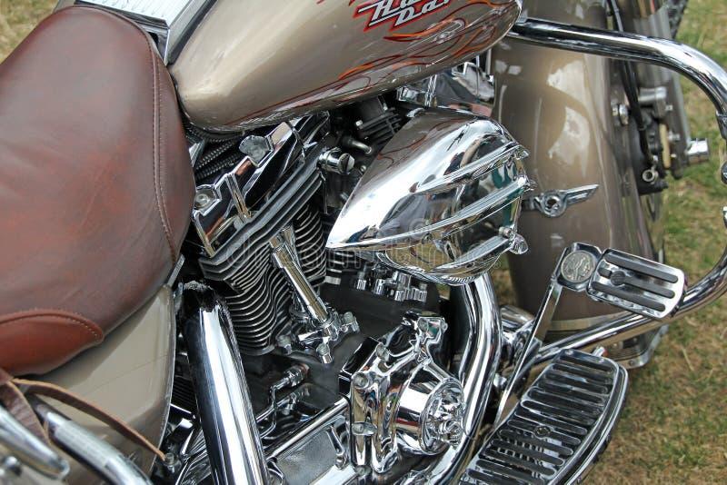 Harley davidson chrome parts stock photography