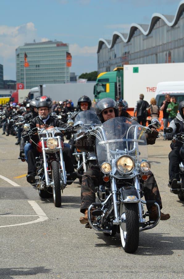 Harley Davidson Days a Amburgo, Germania fotografie stock libere da diritti