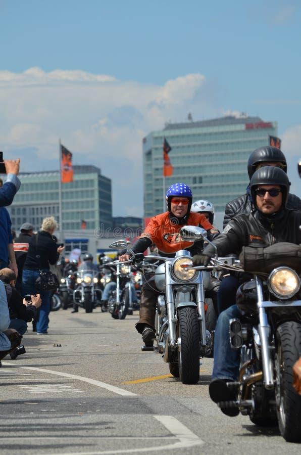 Harley Davidson Days a Amburgo, Germania immagini stock libere da diritti
