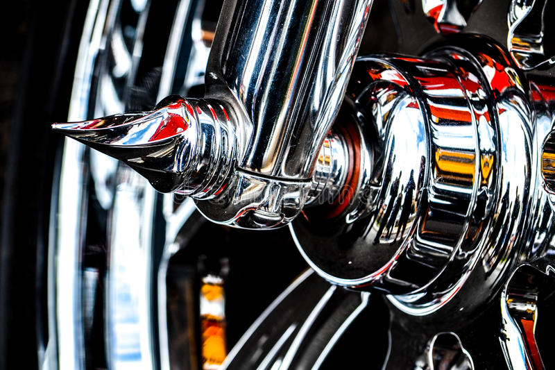Harley Davidson, dettaglio fotografia stock