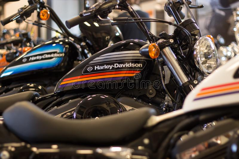 Harley Davidson ?evento della casa aperta ?in Italia: Modello di Sportster immagine stock libera da diritti