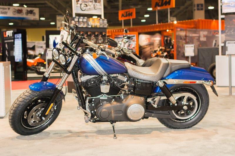 Harley-Davidson Fat Bob 2015 foto de stock