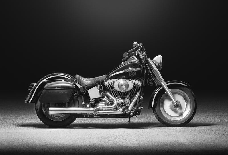Harley Davidson Fatboy. A popular 1990's motorcycle by Harley Davidson stock photography