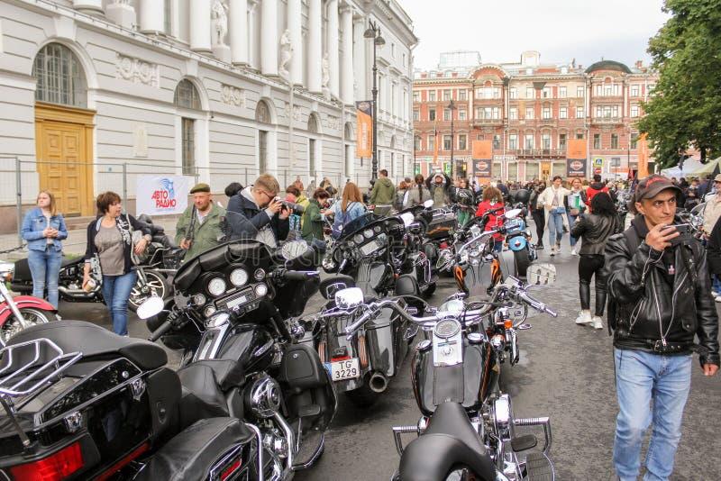 Harley Davidson Festival on Ostrovsky Square stock photography