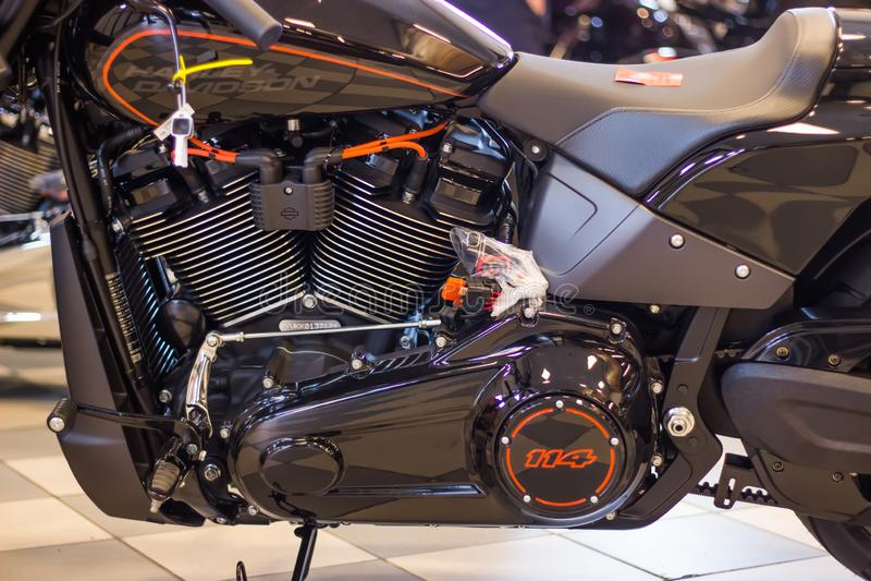 Harley Davidson FXDR 114 πρότυπη παρουσίαση στοκ εικόνα