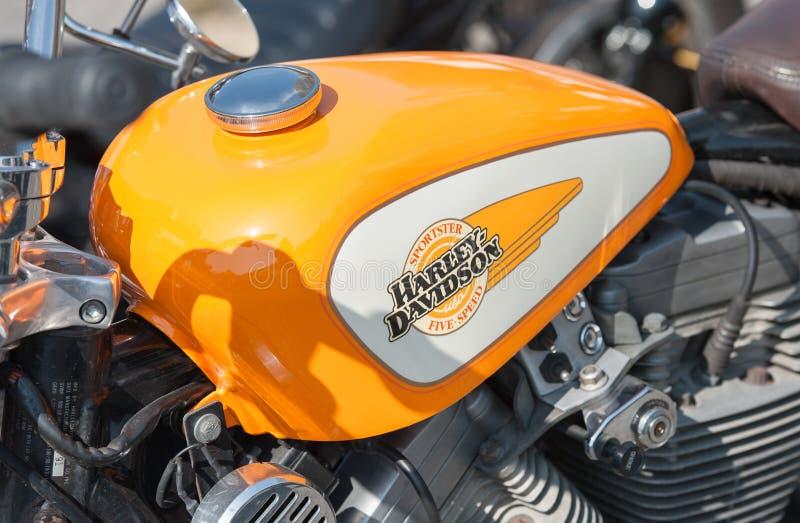 Harley Davidson-gastank arkivbild