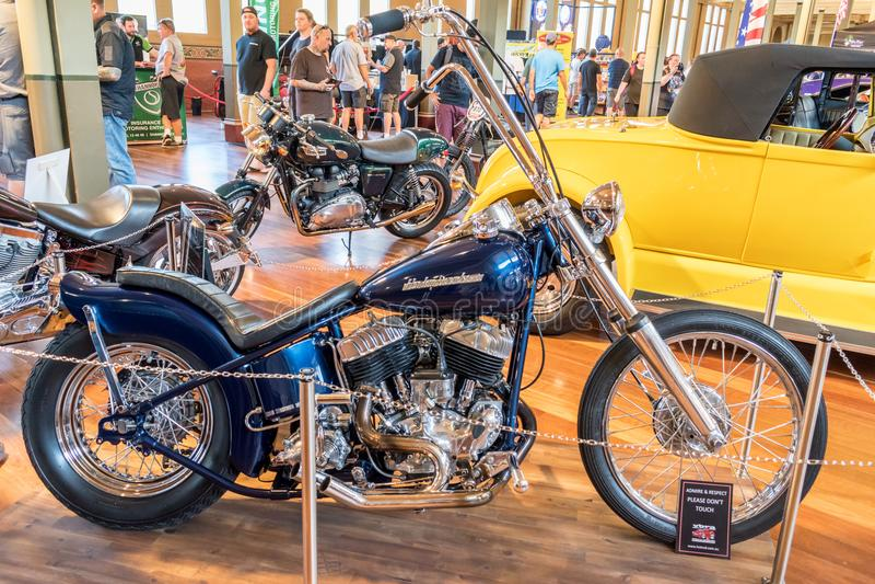 Harley Davidson hot rod motorcycle stock image
