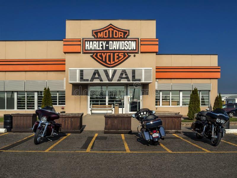 Harley davidson laval photo ditorial image du lecteur for Garage renault laval occasion