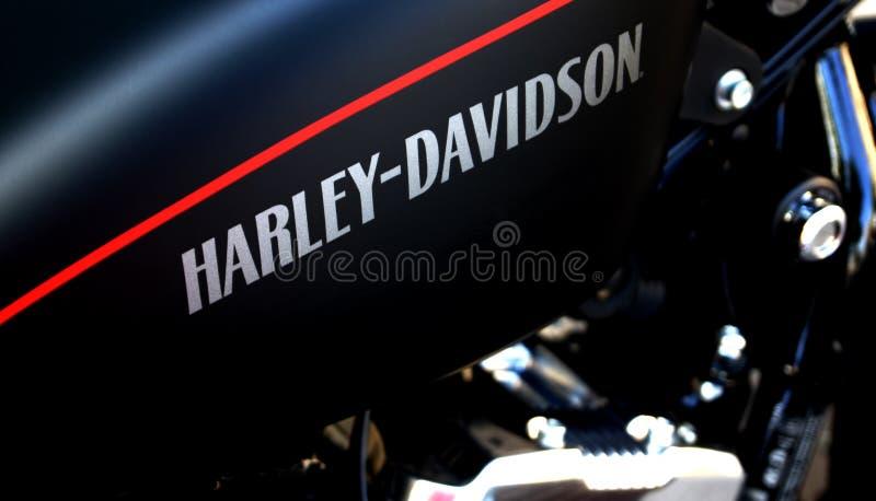 Harley Davidson Logo on a bike royalty free stock photos