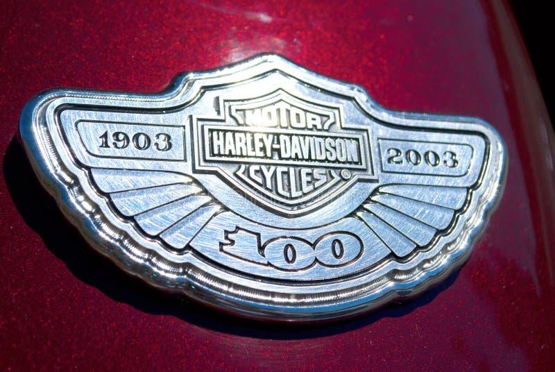 Harley Davidson logo closeup stock photos