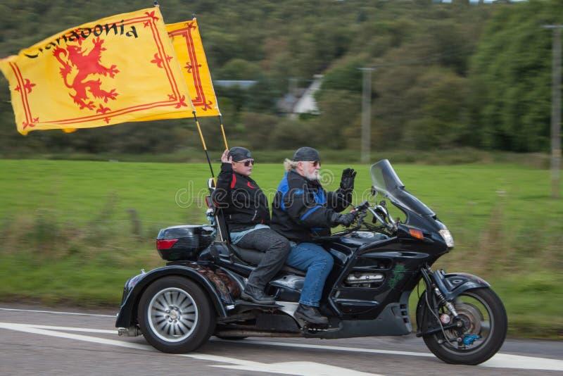 Harley Davidson Motor Bike Trike Rider stock afbeeldingen